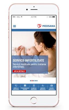 Dezvoltare aplicatii mobile - MEDSANA